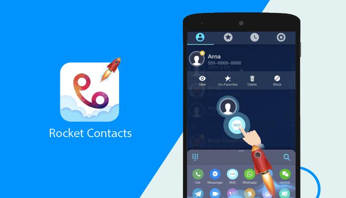 Rocket Contacts - Best Dialer Apps