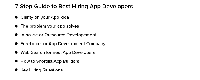 Guide to hire app developers