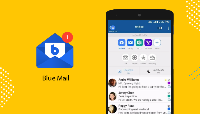 Blue Mail - Best Email Apps For Android