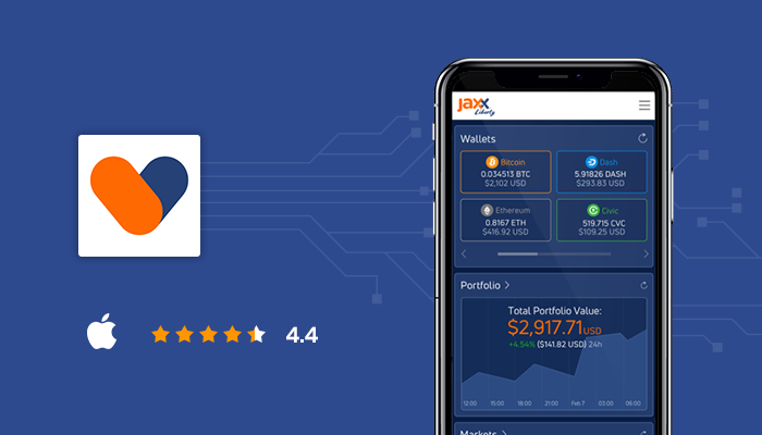 Jaxx Liberty Blockchain Wallet