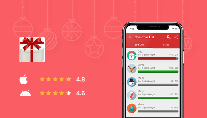 Christmas Gift List - Best Christmas Wish List App