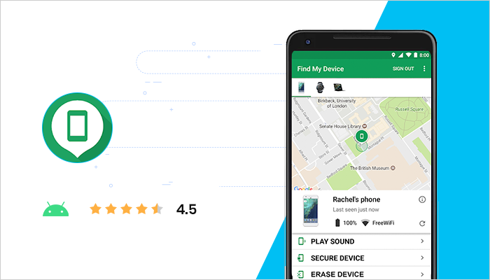 Google Find My Device - Best Free Android App