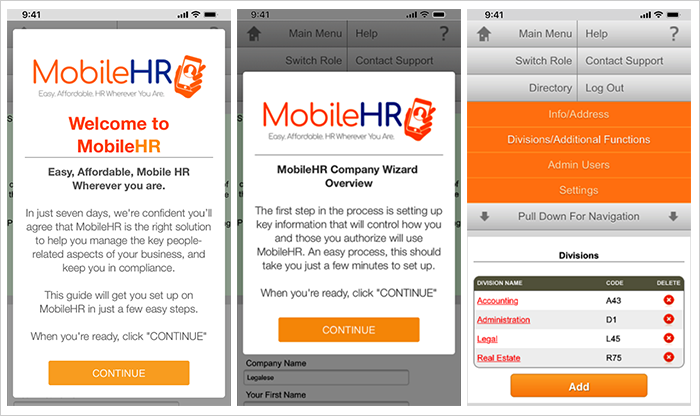 HR  mobile app review